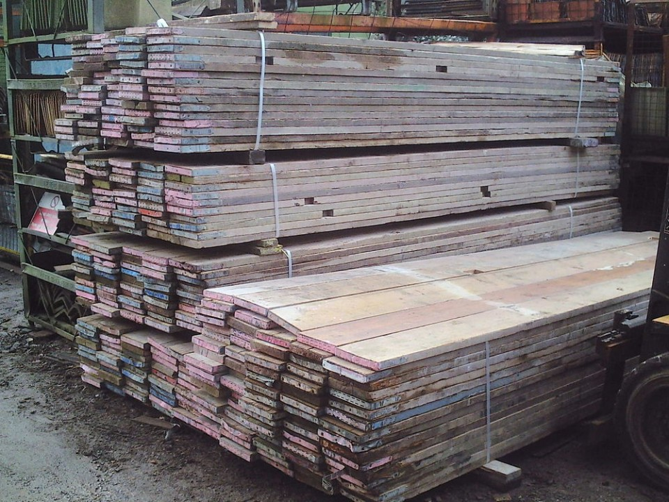 Sustainability and scaffolding wood for Recycled wood board