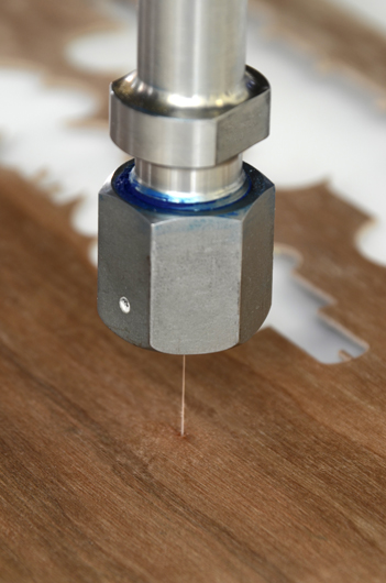 sustainability and waterjet cutter