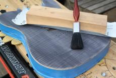 sanding paint