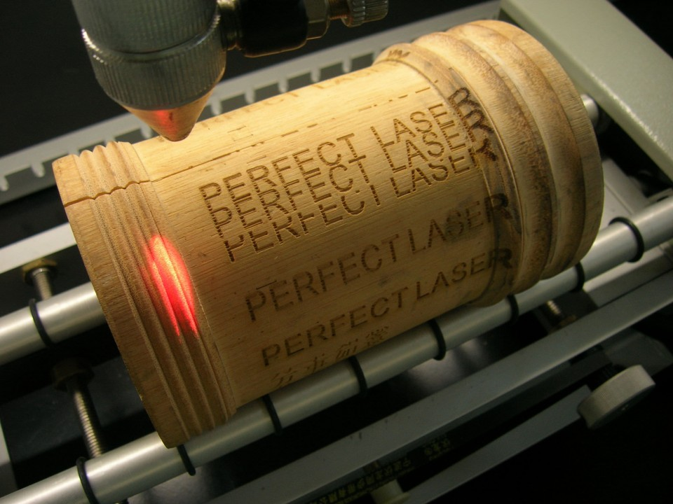 Laser engraving is an interesting attraction at local events